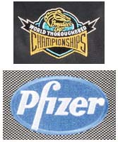 Embroidered logos on apparel